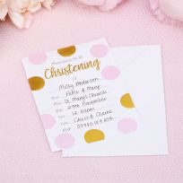 Pattern Works Pink Christening Invitations (10)